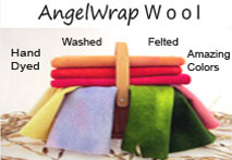 AngelWrap Wool = Amazing Colors - Hand Dyed - Felted
